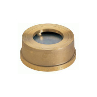 Клапан обратный межфланцевый Zetkama 275H032C50 пружинный, латунь, Ду, 32, Ру16, Тмакс. 200