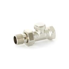 """Вентиль обратный НВ 1/2"""" никелированный Uni-Fitt Thermo 173N2000 с разъемным соединением"""