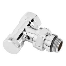 Вентиль для полотенцесушителя Danfoss RLV-CX угловой, хромированный 003L0273