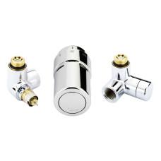 Danfoss RAX set 013G4004  Комплект для подключения дизайн-радиатора или полотенцесушителя, установка терморегулятора слева, хром