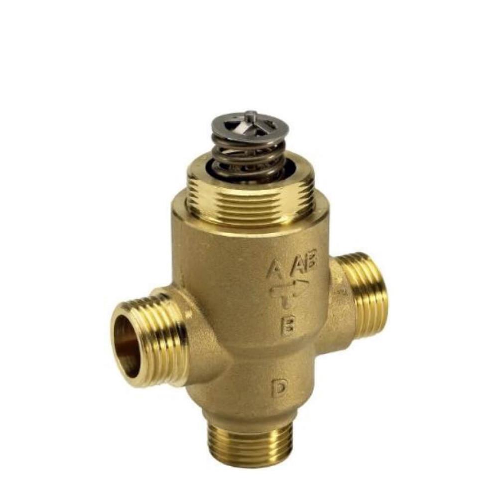Danfoss VZ 3 065Z5412 Регулирующий клапан, латунь, трехходовой ДУ 15   G ½   Ру 16бар   Kvs: 5.5м3/ч