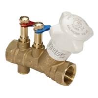 Ручной балансировочный клапан с дренажом, R206B Giacomini R206BY006, ДУ32, BP, РУ 25