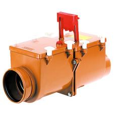 HL710.2 Механический канализационный затвор DN110 с 2 заслонками из нержавеющей стали и ручным затвором