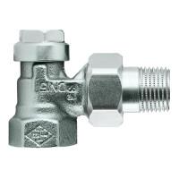 Клапан радиаторный запорный, с дренажом IMI Heimeier Regulux 0351-01.000 угловой ДУ10 3/8 бронза