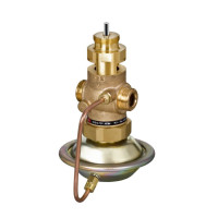 Регулирующий клапан AVQM Danfoss 003H6758 ДУ50, комбинированный, резьбовой, Kvs=25, чугун