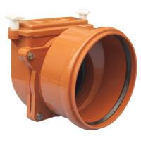 HL720.0 Механический канализационный затвор DN200 с заслонкой из нержавеющей стали и муфтой