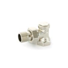 """Вентиль обратный угловойНВ 1/2"""" никелированный Uni-Fitt Thermo 178N2000 с разъемным соединением"""