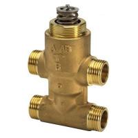 Danfoss VZ 4 065Z5520 Регулирующий клапан, латунь, четырехходовой ДУ 20 | G ¾ | Ру 16бар | Kvs: 5.5м3/ч