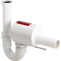 Канализационный обратный клапан Viega Sperrfix 607 128 DN40, тройная защита, с сифоном