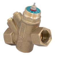Клапан балансировочный комбинированный Giacomini R206AY055 R206AM ДУ25, BP 1, латунь, Ру 25