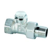 Клапан радиаторный запорный, с дренажом IMI Heimeier Regulux 0352-01.000 прямой ДУ10 3/8 бронза