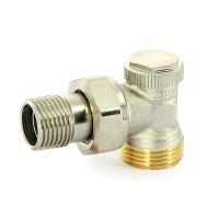 """Вентиль обратный угловой НH 3/4"""" никелированный Uni-Fitt Thermo 179N2300 с разъемным соединением"""