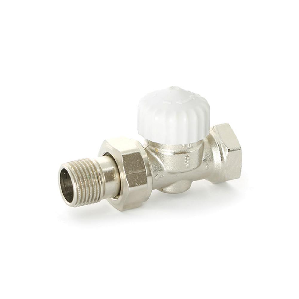 """Термостатический вентиль ВН 1/2"""", никелированный Uni-Fitt 160N2000 прямой"""