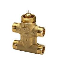 Danfoss VZL 4 065Z2096 Регулирующий клапан, латунь, четырехходовой ДУ 20 | G ¾ | Ру 16бар | Kvs: 2.8м3/ч | ход штока, мм: 2.8, для TWAZ и AMV(E)