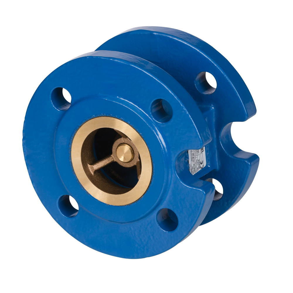 Клапан обратный NVD 402 Danfoss 065B7479 пружинный, фланцевый, ДУ 300, Kvs=2459, чугунный