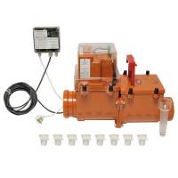 HL 710.2EPC Механический магистральный канализационный затвор DN110 с электроприводной заслонкой, с электроприводом