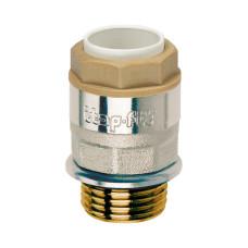 """ITAP Соединение прямое 16x1/2"""" НР никелированное с уплотните льным кольцом 6180012016"""