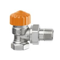 Клапан термостатический с регулятором расхода Heimeier Eclipse F 3461-03.000 ДУ20 3/4 угловой