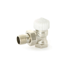 """Вентиль термостатический ВН 1/2"""", никелированный Uni-Fitt 165N2000 угловой"""