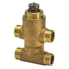 Danfoss VZ 4 065Z5510 Регулирующий клапан, латунь, четырехходовой ДУ 15 | G ½ | Ру 16бар | Kvs: 5.5м3/ч