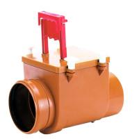 HL HL710.1 Механический канализационный затвор DN110 с заслонкой из нержавеющей стали и ручным затвором