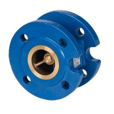 Клапан обратный NVD 402 Danfoss 065B7471 пружинный, фланцевый, ДУ 50, Kvs=99, чугунный