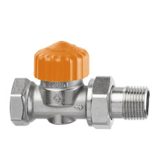 Термостатический клапан для радиатора Heimeier Eclipse F 3462-01.000 3/8 прямой ДУ10