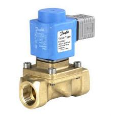Соленоидный клапан Danfoss EV250B 032U162431 электромагнитный, нормально закрытый, с катушкой, ДУ22, Kvs=7