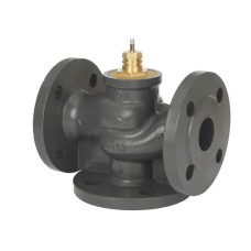 Регулирующий клапан VF3 Danfoss 065B3150 ДУ150, чугун, фланцевый, Kvs=320, трехходовой