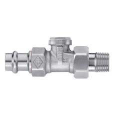 Клапан радиаторный запорный IMI Heimeier Regutec 0346-15.000 прямой ДУ15 1/2 бронза с пресс-фитингом