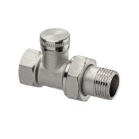 Клапан радиаторный запорный, регулирующий IMI Heimeier Raditec 0382-01.000 прямой ДУ10 3/8 латунь