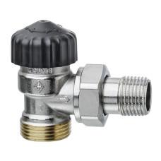 Клапан термостатический с преднастройкой Heimeier Calypso 3445-02.000 ДУ15 3/4 угловой HP/BP