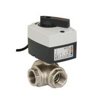 Трехходовой шаровой кран с электроприводом AMZ 113 Danfoss 082G5418 ДУ15 Kvs=17