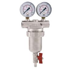 Сетчатый фильтр Itap 1890034 3/4 ДУ 20 cамопромывной механической очистки с манометрами  для воды