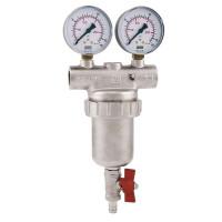 Сетчатый фильтр Itap 1890100 1 ДУ 25 cамопромывной механической очистки с манометрами