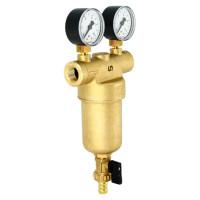 """Фильтр промывной Uni-Fitt 216G4030 ВВ 1"""" со сливным шаровым краном и 2 манометрами, 300 мкм"""