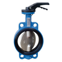 Дисковый затвор Tecofi VPI4449-02EP0125 ДУ 125, Ру16, чугунный, с проушинами, стальной диск