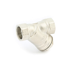"""Фильтр косой UNI-FITT ВВ 210N4000 1"""" сетчатый 400 мкм, никелированный  для воды"""