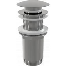 Донный клапан Alcaplast A395 для раковины без перелива, клик-клак