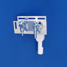 Сифон для стиральной машины Sanit 31.606.00..0000, встраиваемый, с вентилем и штуцером