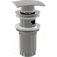 Донный клапан Alcaplast A393 для раковины с переливом, клик-клак
