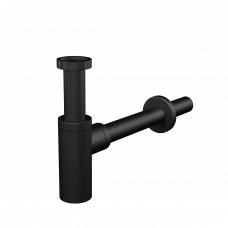 Сифон для раковины Alcaplast A400BLACK Ø32 DESIGN, цельнометаллический, круглый черный