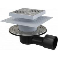 Alcaplast APV3444, 150х150мм, сухой и мокрый затвор, трап для душевого пространства в бане
