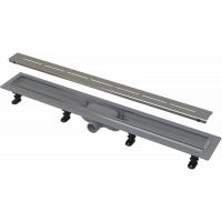 Водоотводящий желоб Alcaplast APZ18-850M Simple, с решеткой 85см, пластиковый, пороги сталь, комплект