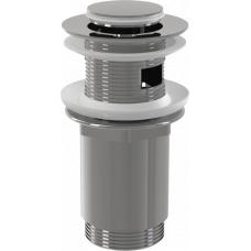 Донный клапан Alcaplast A391 для раковины с переливом, клик-клак
