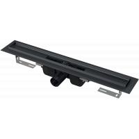 Alcaplast APZ1 BLACK 1150 Водоотводящий желоб, для перфорированной решетки 115см, черный-мат