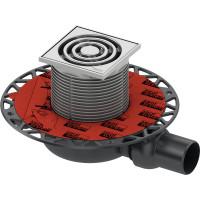 Трап TECE drainpoint S 3601100 h66мм комплект для душа, с решеткой