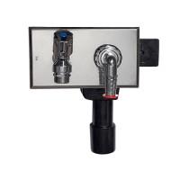 Сифон для стиральной и посудомоечной машины HL 406 DN40/50 с подключением воды и краном
