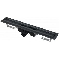 Alcaplast APZ1 BLACK 1450 Длинный душевой лоток, для перфорированной решетки 145см, черный-мат