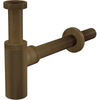 Сифон для раковины Alcaplast A400ANTIC DN32 DESIGN круглый, бронза-антик, чашка 70мм